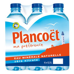 Eau minerale naturelle Plancoet pack 6X50cl pet