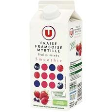 Fruits mixes framboise/myrtille Smoothie U 75cl