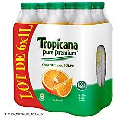 Tropicana pure premium orange avec pulpe 6x1l