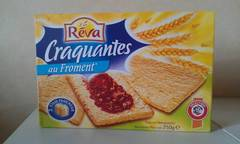 Craquantes, tartines grillees au froment, x44 tartines, la boite, 250g