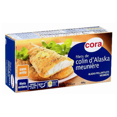 Filets de colin d'Alaska meuniere 400g