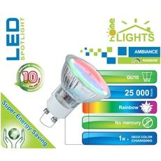 SPOT LED RAINBOW HOMELIGHTS 1W GU10 MULTICOLORE