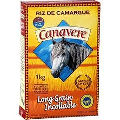 Riz long grains incollable de Camargue CANAVERE, 1kg
