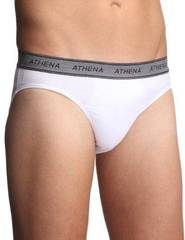 4 Slips taille basse ATHENA, noir, blanc, gris et anthracite, taille 3