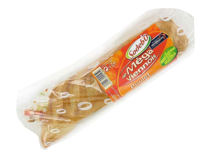 Sandwich poulet, oeuf, tomate, salade et mayonnaise SODEBO, 270g