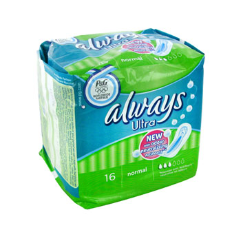 Always Ultra - Serviettes hygiéniques normal le paquet de 16