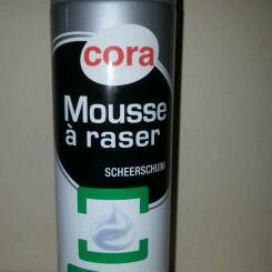 Cora mousse a raser mentholee 250ml