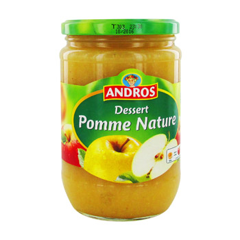 dessert pomme nature andros 660g