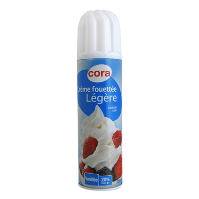 Bombe chantilly 20% Mat.gr legere