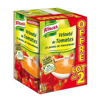 knorr veloute de tomate a la mascarpone 2x1l tous les produits potages liquides prixing. Black Bedroom Furniture Sets. Home Design Ideas