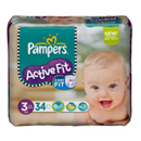 Pampers active fit midi pack change x34 taille 4