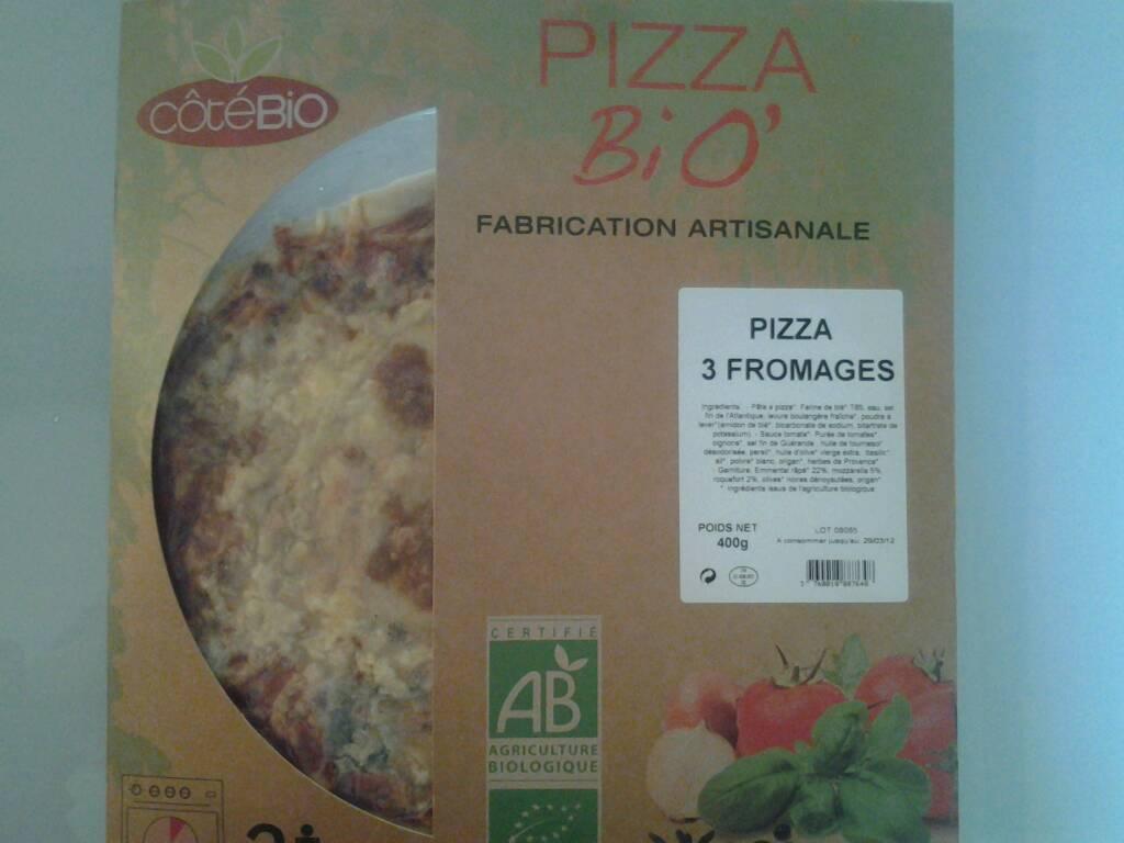pizza aux 3 fromages cote bio 400g tous les produits. Black Bedroom Furniture Sets. Home Design Ideas