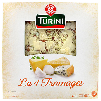 Pizza fraiche Turini 4 fromages 450g