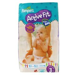 Couches active fit, taille 3 : 4-9kg, Sesame Street, le paquet de 60