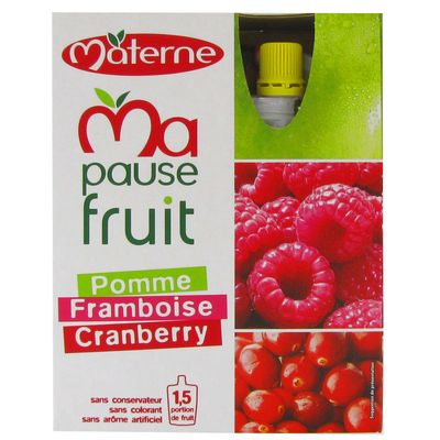 Materne ma pause fruit gourde pomme framboise cranberry 4x120