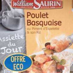 William Saurin poulet basquaise piment d'espellette 285g