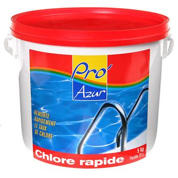 Chlore rapide pro 39 azur pastilles 20g 5kg tous les for Chlore piscine composition
