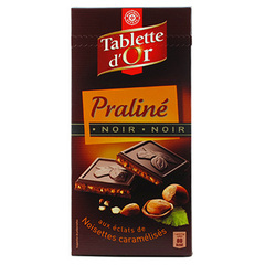 Chocolat noir Tablette d'Or Fourre praline 150g