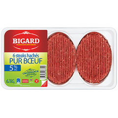 Steaks hachés 100% pur bœuf 5% MG Vu en catalogue