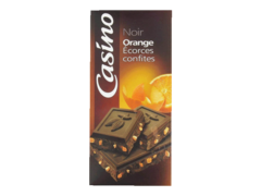 Tablette de Chocolat Noir aux ecorces d?Orange confites