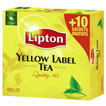 Lipton yellow thé label x100