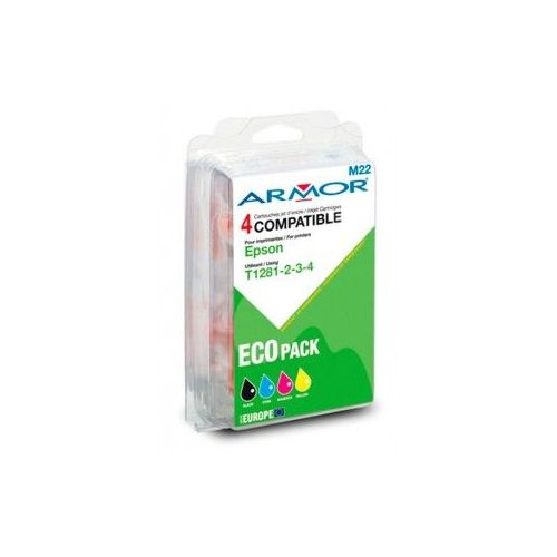 PACK 4 CARTOUCHES ARMOR EPSON T128