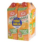 Jus d'orange ABC Fruité Famille slim 4x1,5L