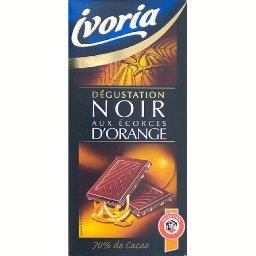 Chocolat degustation noir aux ecorces d'orange, letui de 1 x 100g