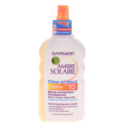 Spray solaire Ambre Solaire Clear protect IP 10 200ml