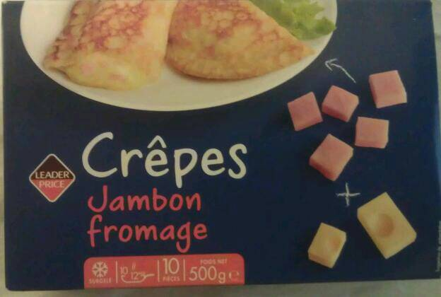 10 crêpes jambon-fromage 500g