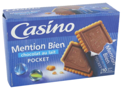 Biscuits mention bien chocolat au lait pocket