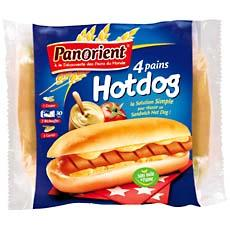Pain pour hot dog PANORIENT, 4 unites, 250g