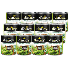 Petits pois d'Aucy Extra tendres 12x560g