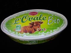 Fromage ovale bio au lait pasteurise GLAC, 37%MG, 180g