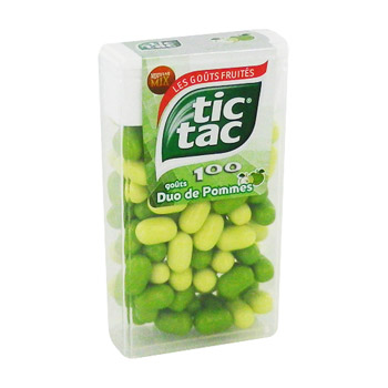 Tic Tac duo pomme etui T100 49g