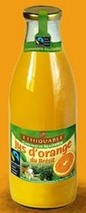 Ethiquable, Jus d'orange du Bresil a base de jus concentre, le bocal,1l