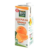 Pur jus d'orange Bio Village Avec pulpe - 1l
