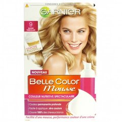 Colorat.permanente BELLE COLOR Mousse, blond tres clair n°9