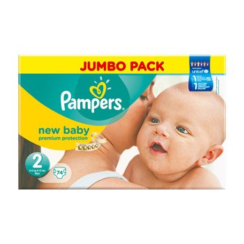 Pampers couches new baby sensitive taille 1 nouveau n 2 5 kg le paquet de 21 tous les - Couche pampers new baby taille 2 ...