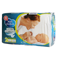 Change bebe Mots d'Enfants Ultra confort mini 3-6kg x35