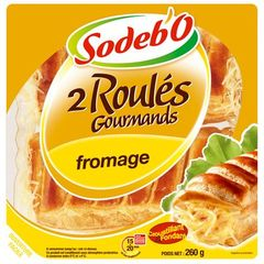 2 roules au fromage SODEBO, 260g