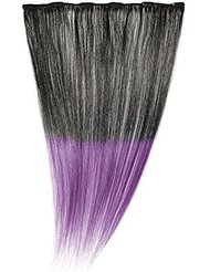 American Dream - A1/QFC12/18/1B-PURPLE - 100 % Cheveux Naturels - Barrette Unique Extensions à Clipper - Couleur...