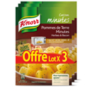 Knorr sachets micro-onde pomme de terre bacon herbes 3x20g