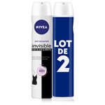 Deodorant invisible Black & White NIVEA, 2x200ml
