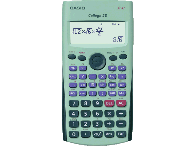 Calculatrice scientifique fx-92 College 2D + , 6eme a 3eme
