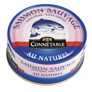 Connetable saumon sauvage au naturel 112g