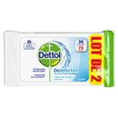 Dettol désinfectant multi surface lingettes 2x36