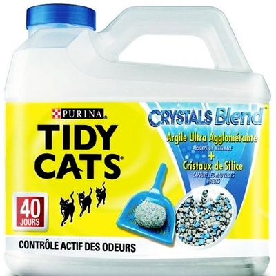 Litiere agglomerante silice Crystal Blend TIDY CATS, 4,5kg