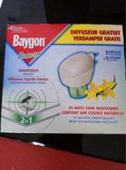 Diffuseur electrique anti moustiques Protector BAYGON, 45 nuits + 1 recharge