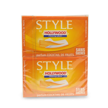 Chewing-gum Hollywood Style Fraise 2x54g